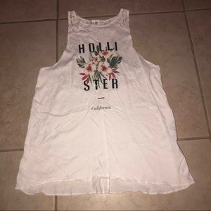 Hollister High Neck Lace Back Tank Top